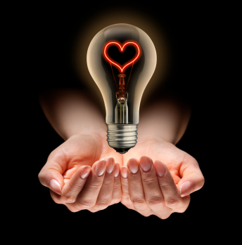 Light bulb and love