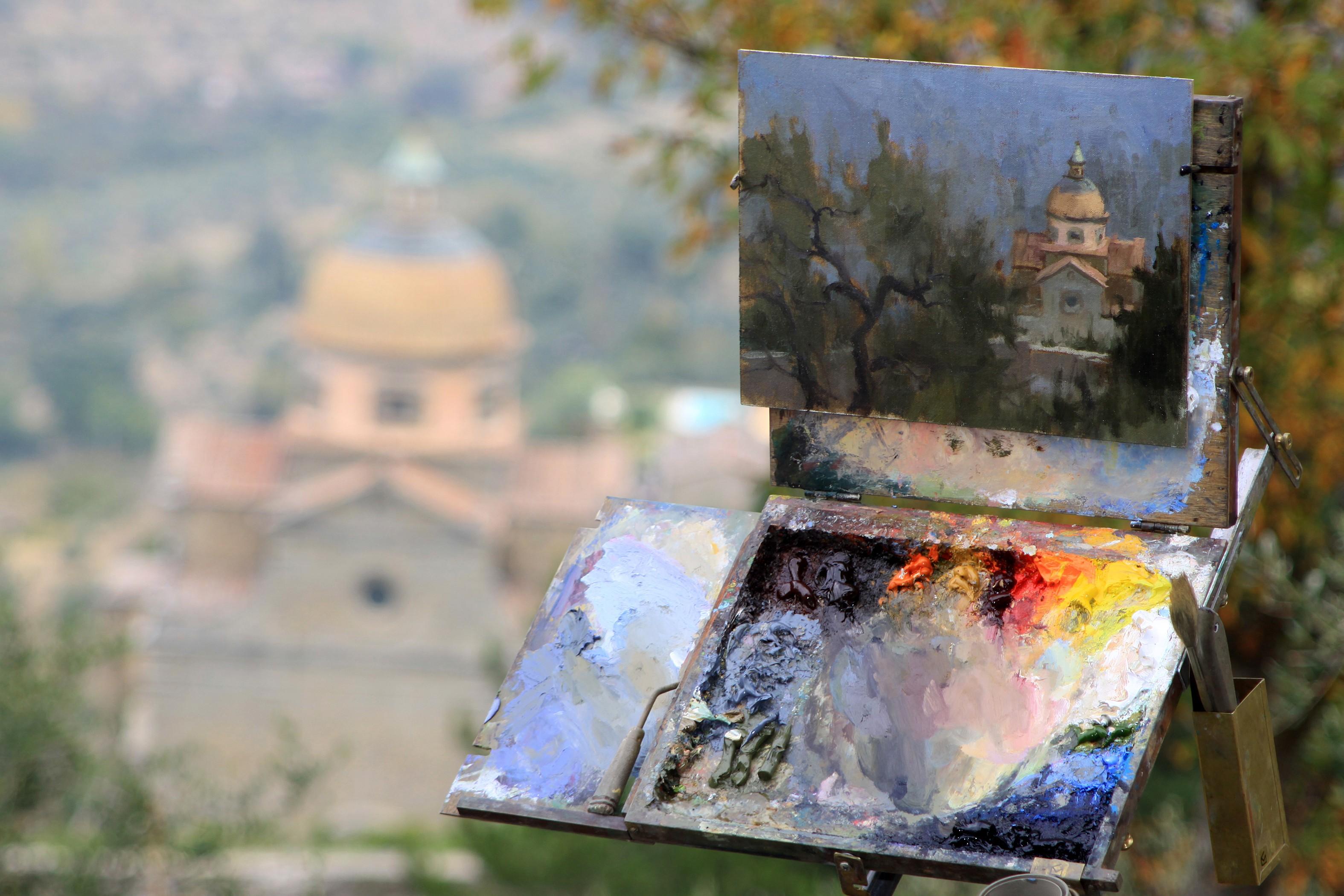 Cortona - oil painting 2